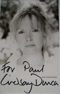 Lindsay Duncan autograph