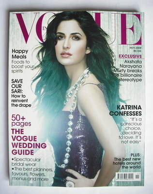 <!--2009-11-->Vogue India magazine - November 2009 - Katrina Kaif cover