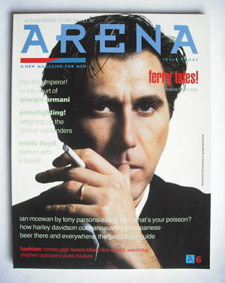 <!--1987-09-->Arena magazine - Autumn/Winter 1987 - Bryan Ferry cover