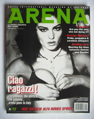 <!--1996-04-->Arena magazine - April 1996 - Monica Bellucci cover
