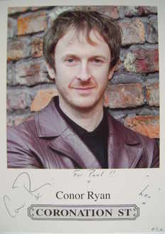 Conor Ryan autograph (ex Coronation Street actor)