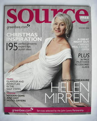 Source magazine - Helen Mirren cover (November/December 2008)