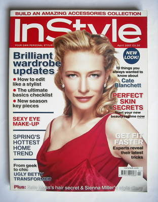 <!--2007-04-->British InStyle magazine - April 2007 - Cate Blanchett cover