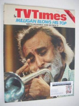 TV Times magazine - Spike Milligan cover (15-21 September 1973)