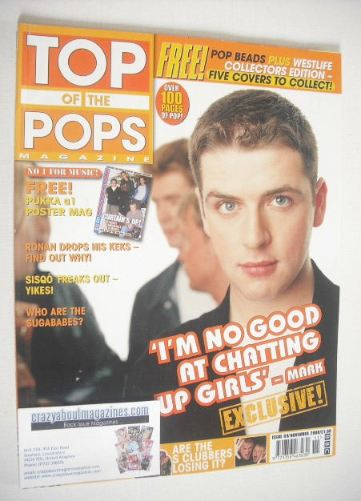 <!--2000-11-->Top Of The Pops magazine - Mark Feehily cover (November 2000)