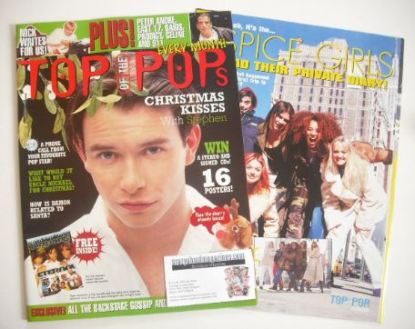 <!--1996-12-->Top Of The Pops magazine - Stephen Gately cover (December 199