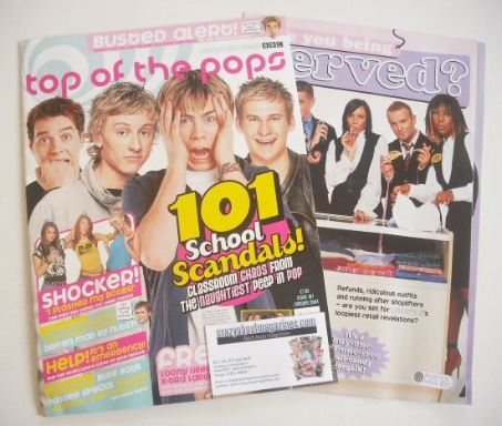 <!--2004-01-->Top Of The Pops magazine - 101 School Scandals cover (January