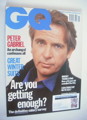 <!--1992-11-->British GQ magazine - November 1992 - Peter Gabriel cover