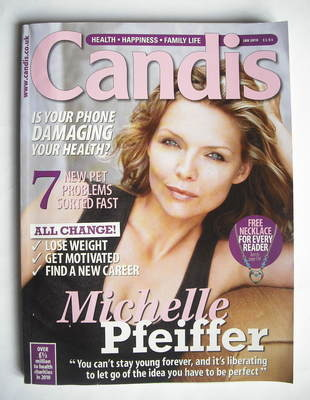 Candis magazine - January 2010 - Michelle Pfeiffer cover