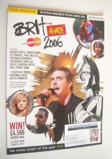 Brit Awards magazine 2006
