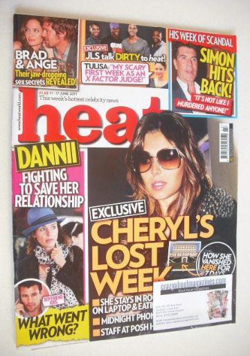 <!--2011-06-11-->Heat magazine - Cheryl Cole cover (11-17 June 2011)