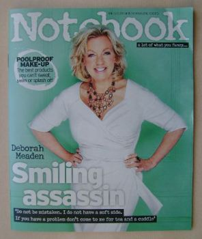 Notebook magazine - Deborah Meaden cover (12 July 2015)