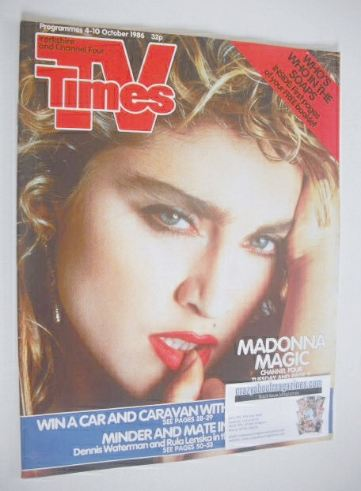 <!--1986-10-04-->TV Times magazine - Madonna cover (4-10 October 1986)