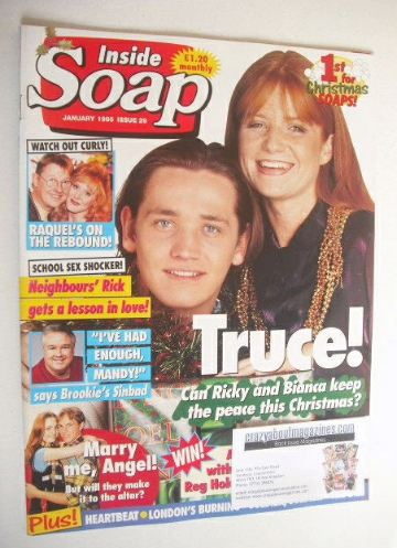 <!--1995-01-->Inside Soap magazine - Sid Owen and Patsy Palmer cover (Janua