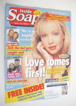 Inside Soap magazine - Kimberley Davies cover (March 1995)