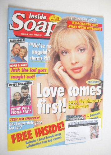<!--1995-03-->Inside Soap magazine - Kimberley Davies cover (March 1995)