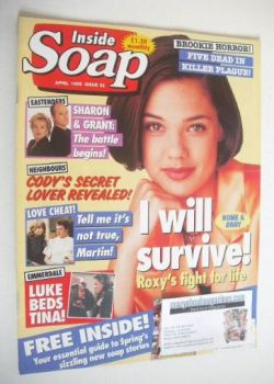 Inside Soap magazine - Lisa Lackey cover (April 1995)