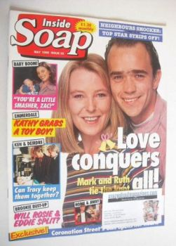 Inside Soap magazine - Caroline Paterson and Todd Carty cover (May 1995)