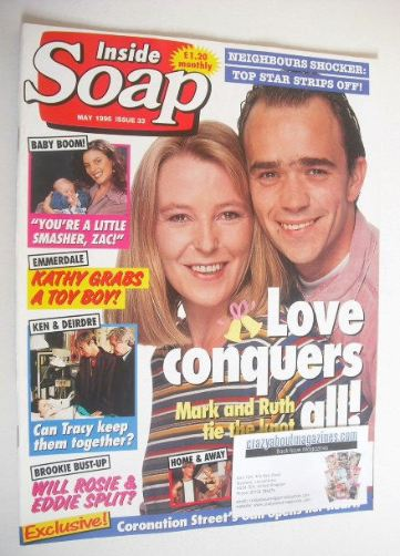 <!--1995-05-->Inside Soap magazine - Caroline Paterson and Todd Carty cover