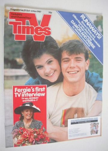 <!--1987-10-31-->TV Times magazine - Gillian Kearney and Simon O'Brien cove