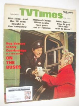 TV Times magazine - Reg Varney cover (22-28 February 1969)