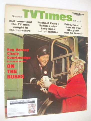 <!--1969-02-22-->TV Times magazine - Reg Varney cover (22-28 February 1969)