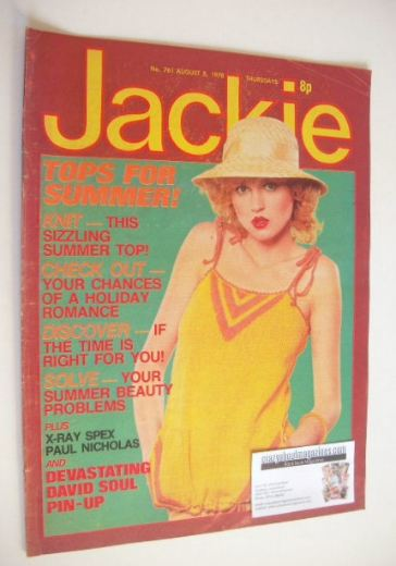 <!--1978-08-05-->Jackie magazine - 5 August 1978 (Issue 761)