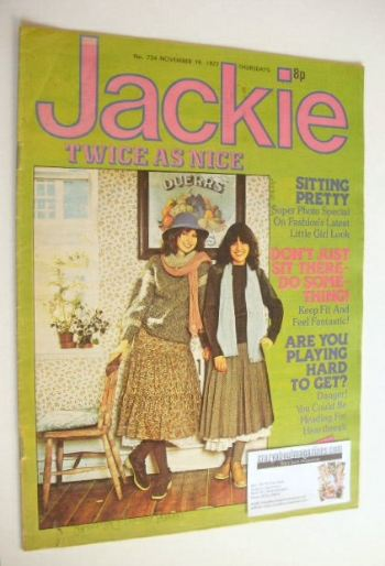 <!--1977-11-19-->Jackie magazine - 19 November 1977 (Issue 724)