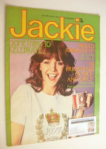<!--1977-06-04-->Jackie magazine - 4 June 1977 (Issue 700 - Leslie Ash cove
