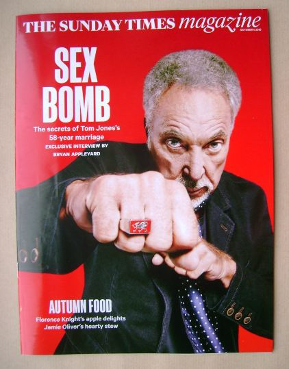 <!--2015-10-04-->The Sunday Times magazine - Sir Tom Jones cover (4 October