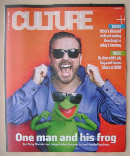 <!--2014-03-23-->Culture magazine - Ricky Gervais cover (23 March 2014)