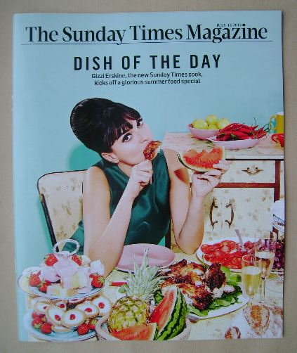 <!--2013-07-14-->The Sunday Times magazine - Gizzi Erskine cover (14 July 2