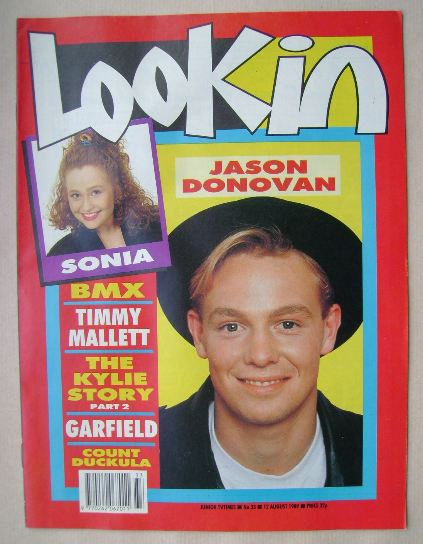 <!--1989-08-12-->Look In magazine - Jason Donovan cover (12 August 1989)