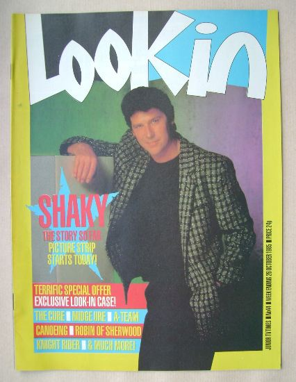 <!--1985-10-26-->Look In magazine - Shakin' Stevens cover (26 October 1985)