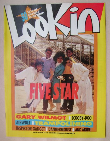 <!--1986-11-15-->Look In magazine - Five Star cover (15 November 1986)