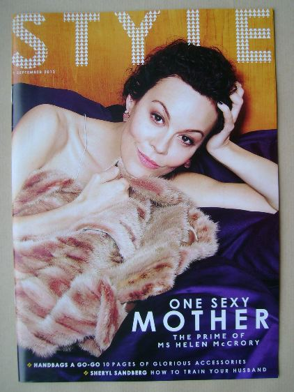 <!--2013-09-01-->Style magazine - Helen McCrory cover (1 September 2013)