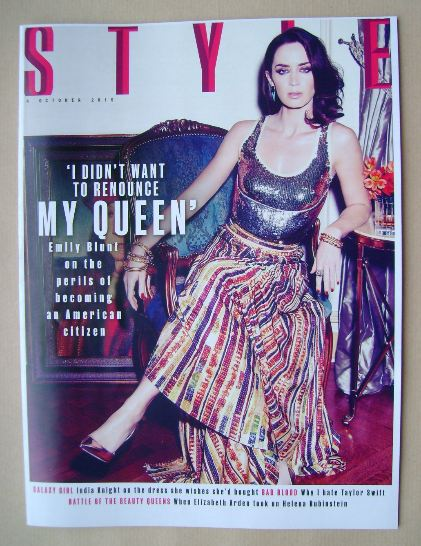 <!--2015-10-04-->Style magazine - Emily Blunt cover (4 October 2015)