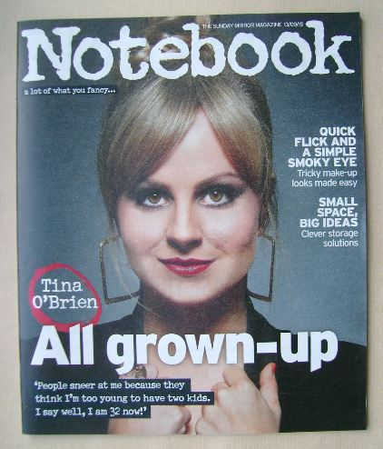 <!--2015-09-13-->Notebook magazine - Tina O'Brien cover (13 September 2015)