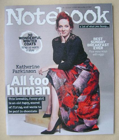 <!--2015-09-20-->Notebook magazine - Katherine Parkinson cover (20 Septembe