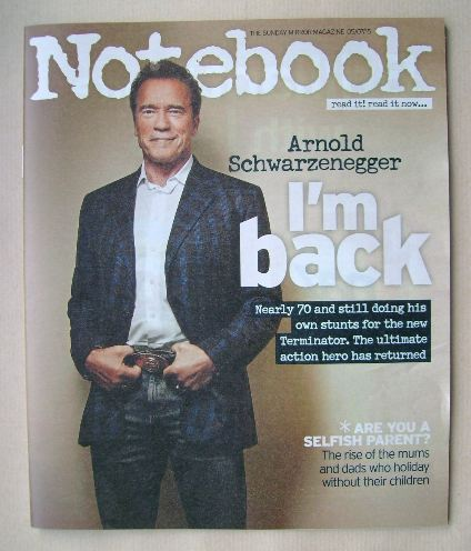 <!--2015-07-05-->Notebook magazine - Arnold Schwarzenegger cover (5 July 20