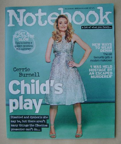 <!--2015-05-31-->Notebook magazine - Cerrie Burnell cover (31 May 2015)