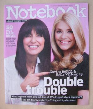 Notebook magazine - Davina McCall and Holly Willoughby cover (17 May 2015)
