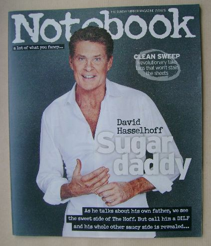 <!--2015-06-21-->Notebook magazine - David Hasselhoff cover (21 June 2015)