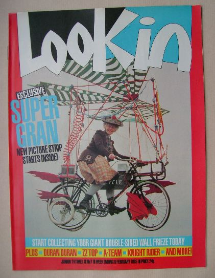 <!--1985-02-09-->Look In magazine - Supergran cover (9 February 1985)