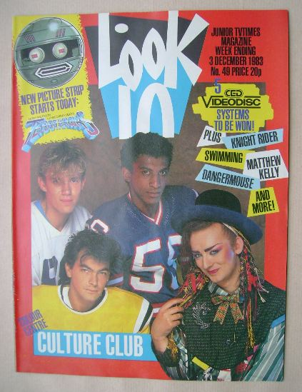<!--1983-12-03-->Look In magazine - Culture Club cover (3 December 1983)