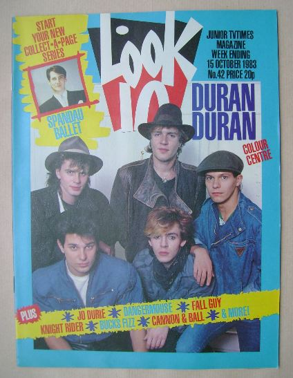 <!--1983-10-15-->Look In magazine - Duran Duran cover (15 October 1983)
