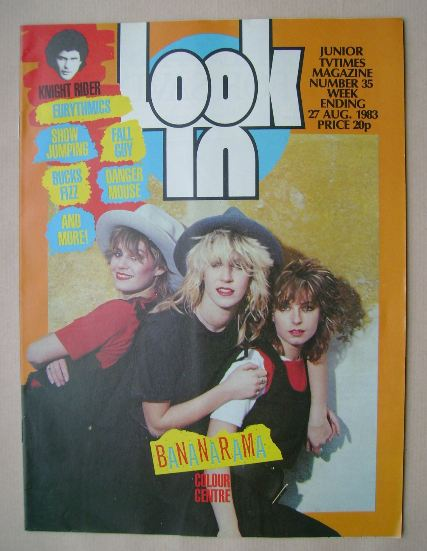 <!--1983-08-27-->Look In magazine - Bananarama cover (27 August 1983)