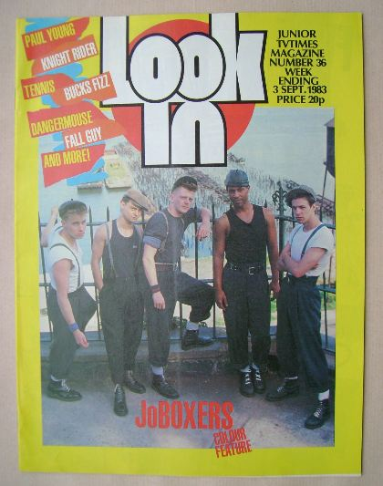 <!--1983-09-03-->Look In magazine - JoBoxers cover (3 September 1983)