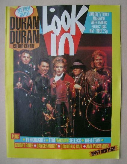 <!--1984-12-29-->Look In magazine - Duran Duran cover (29 December 1984)