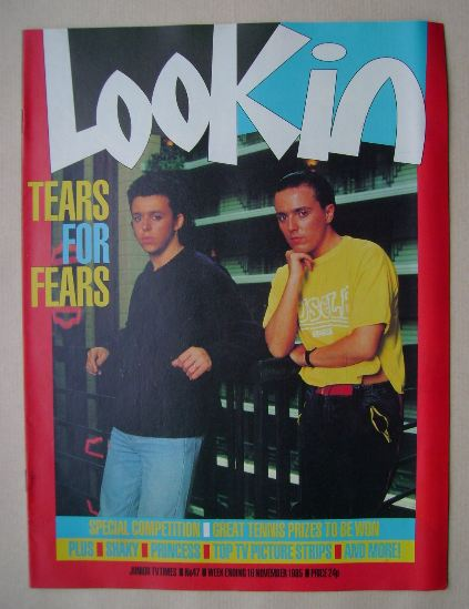 <!--1985-11-16-->Look In magazine - Tears For Fears cover (16 November 1985